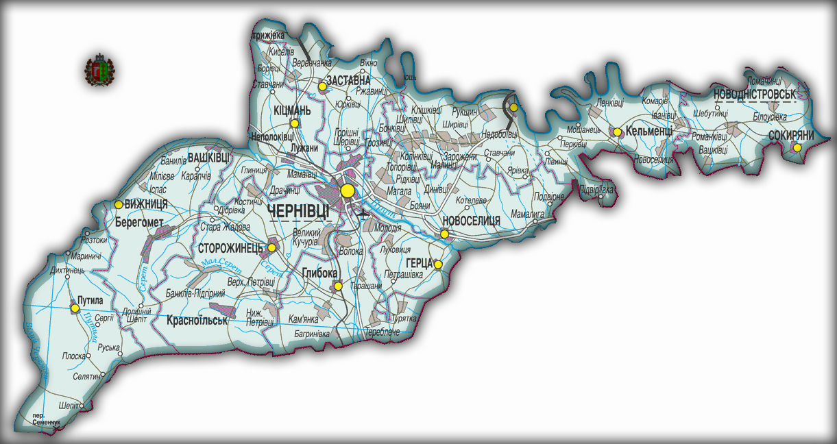 Топографическая карта Черновицкой области