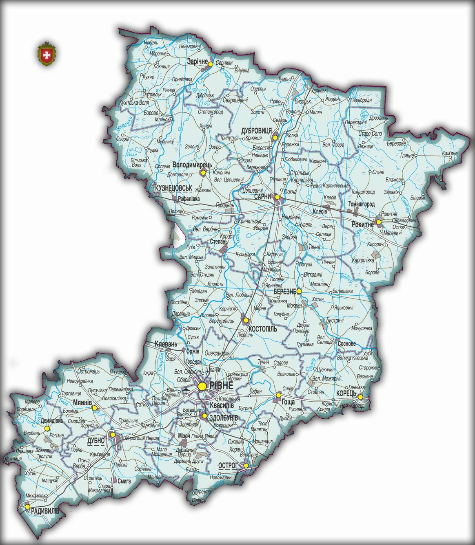 Топографическая карта Ровенской области