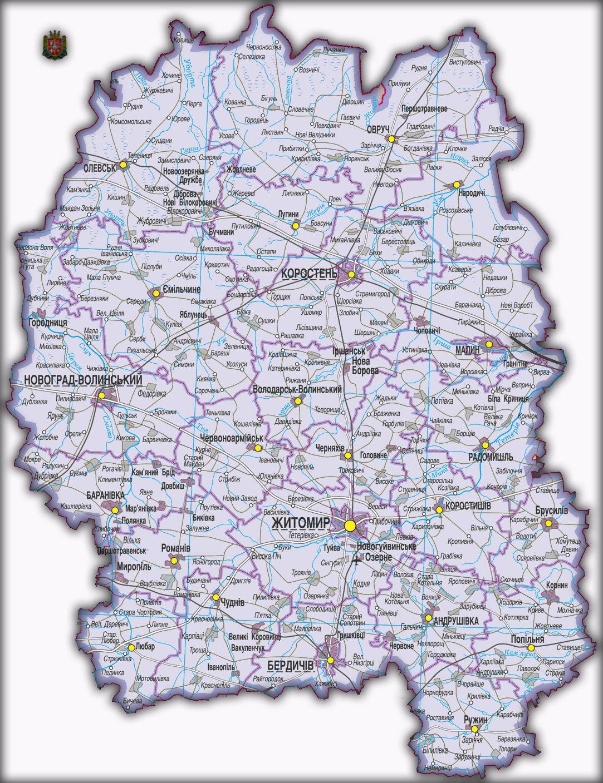 Топографическая карта Житомирской области