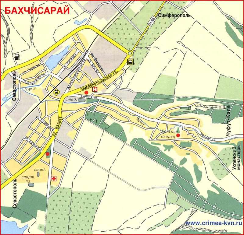 Карта города Бахчисарай
