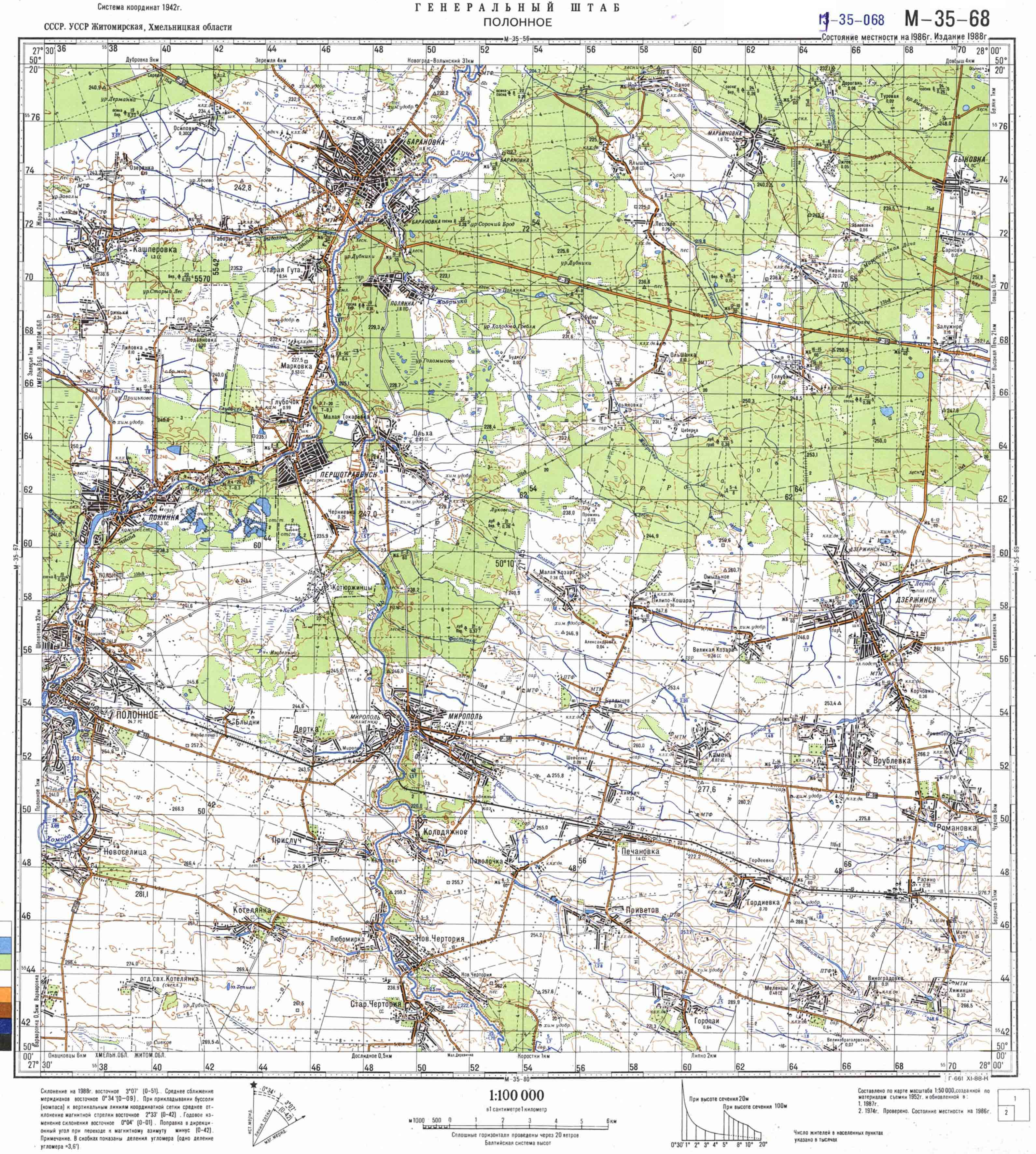 Карта города Барановка