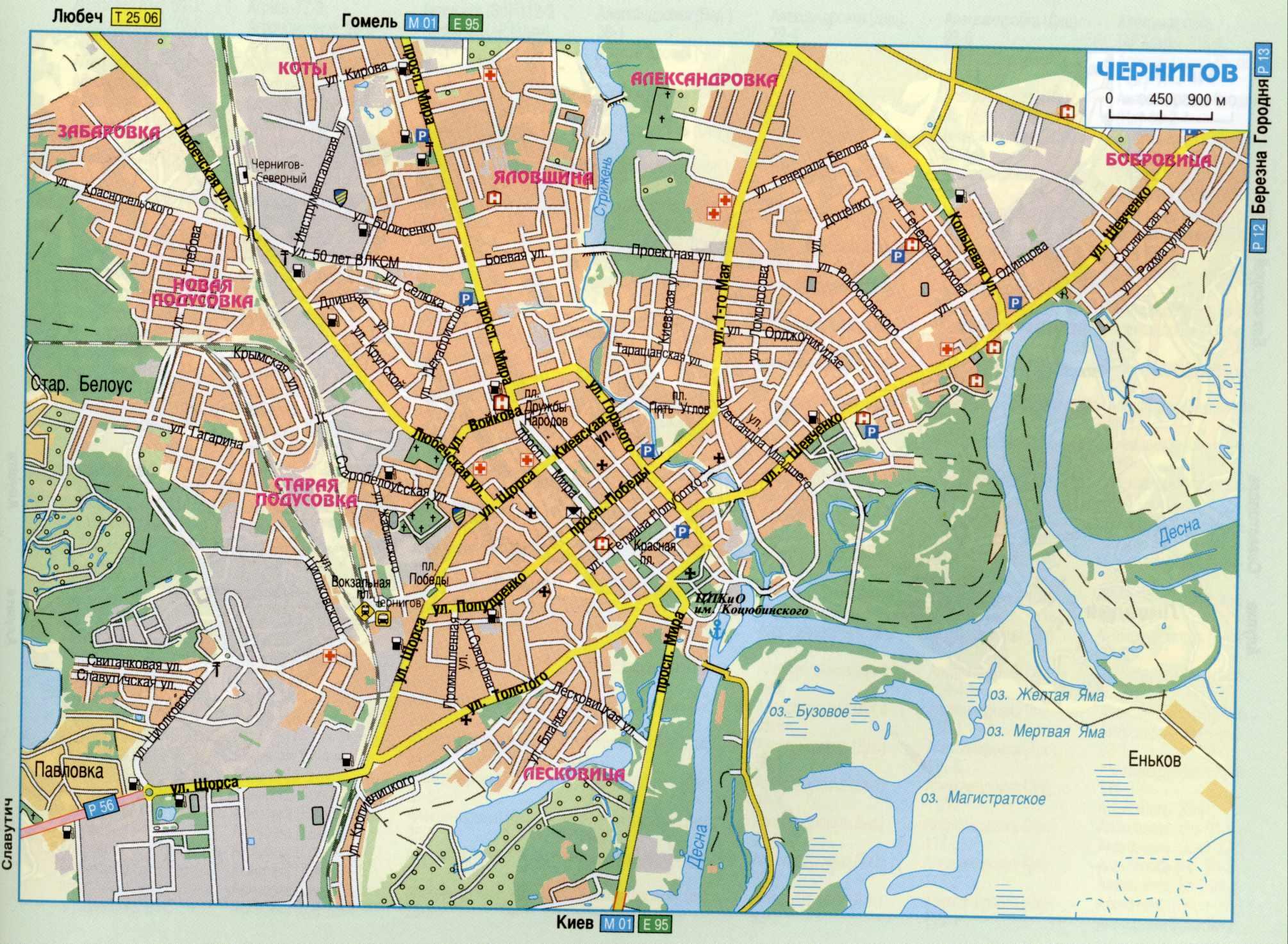 Карта города Чернигов