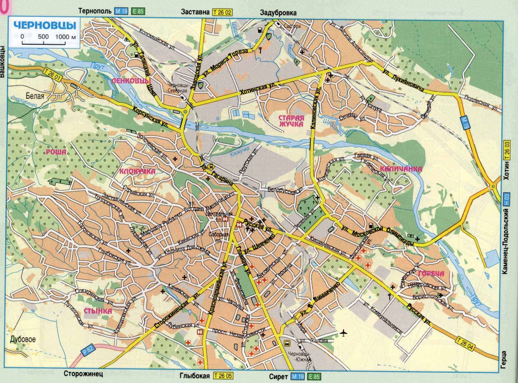 Карта города Черновцы