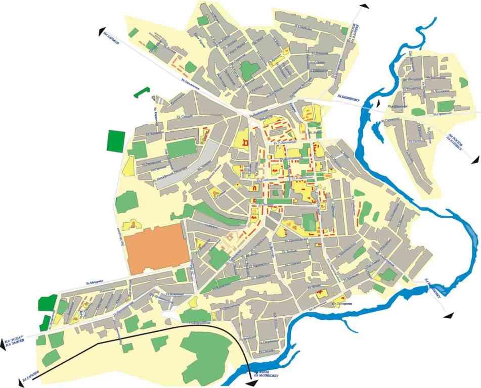 Карта города Чугуев