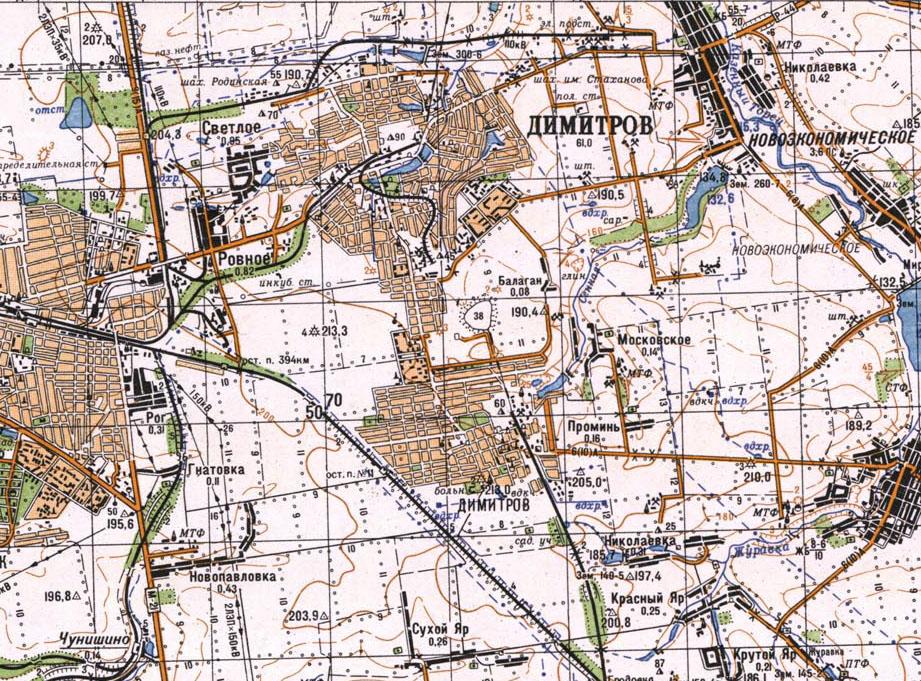 Карта города Димитрова