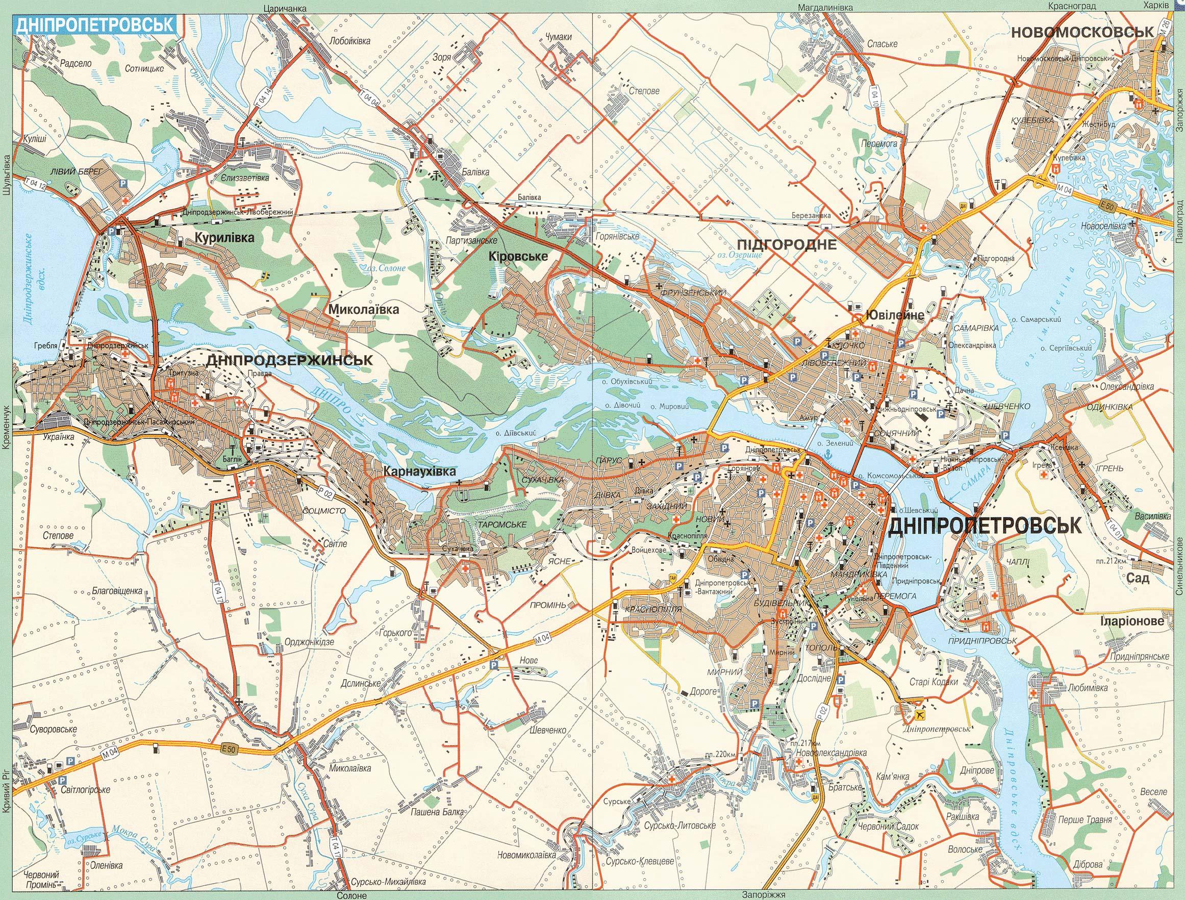 Карта города Днепропетровск