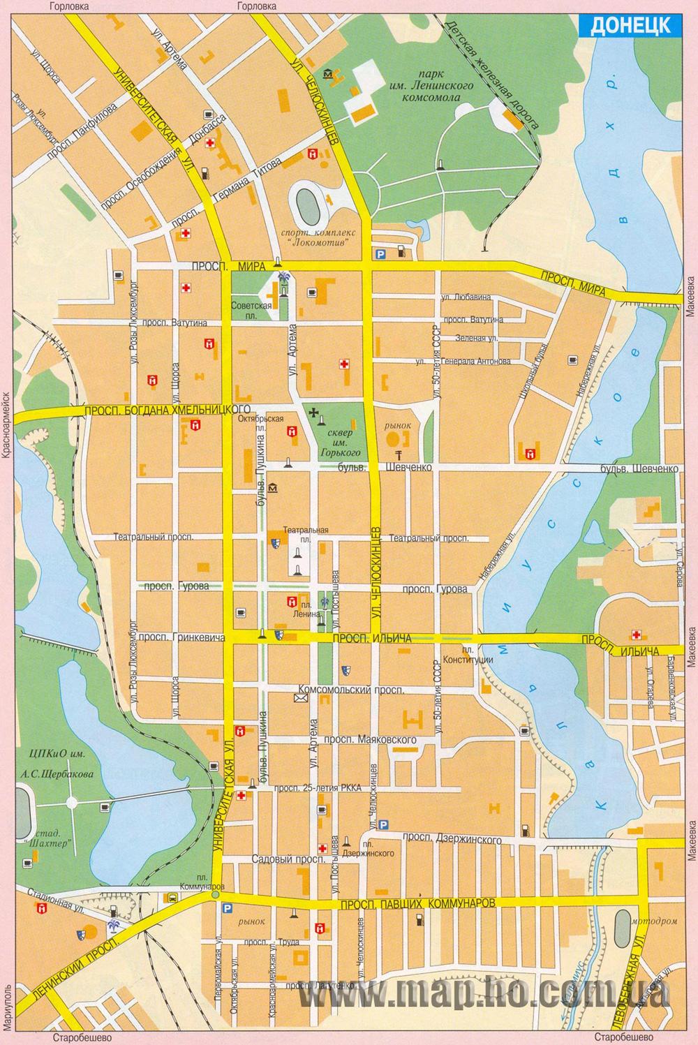 Карта города Донецк