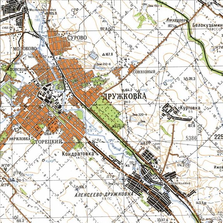Карта города Дружковка