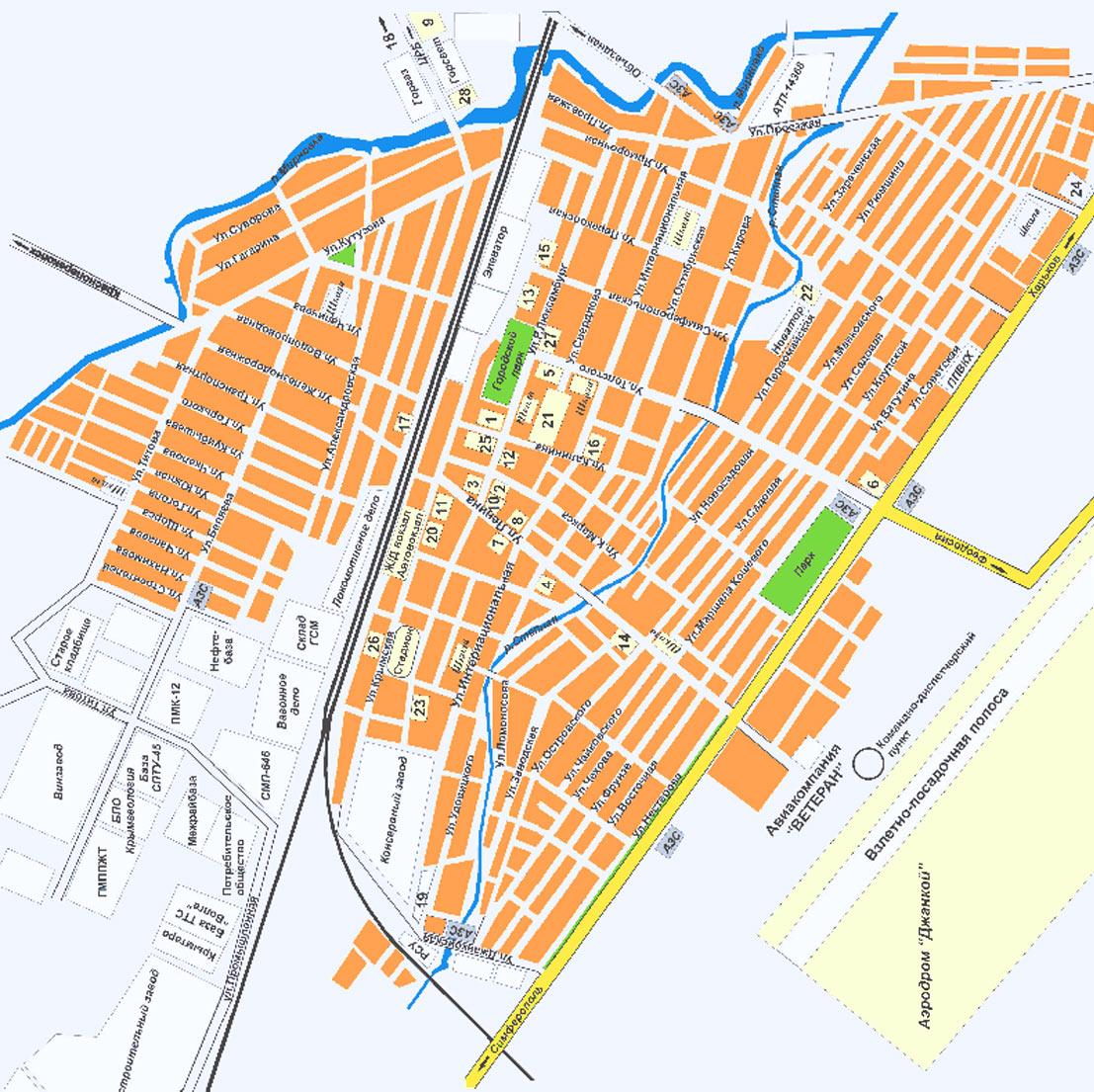 Карта города Джанкой