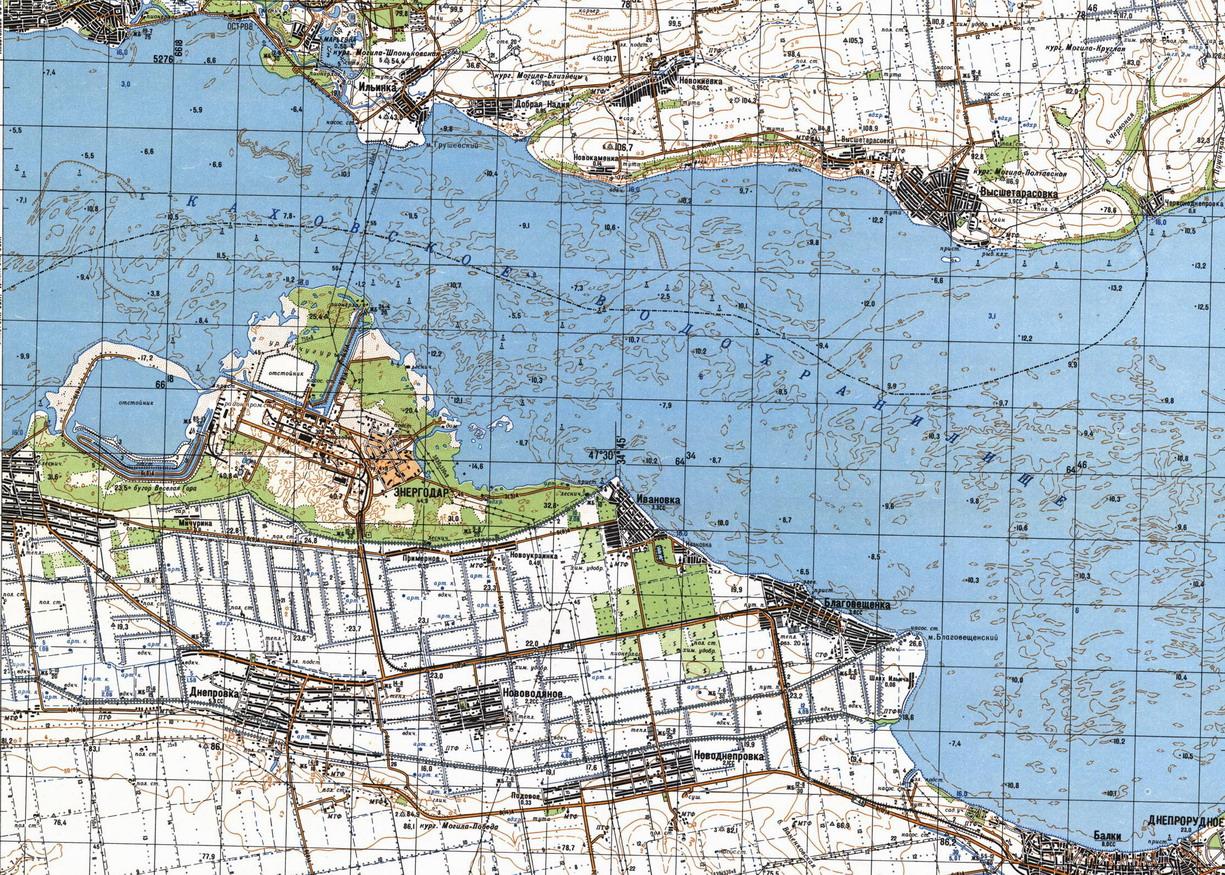 Карта города Энергодар