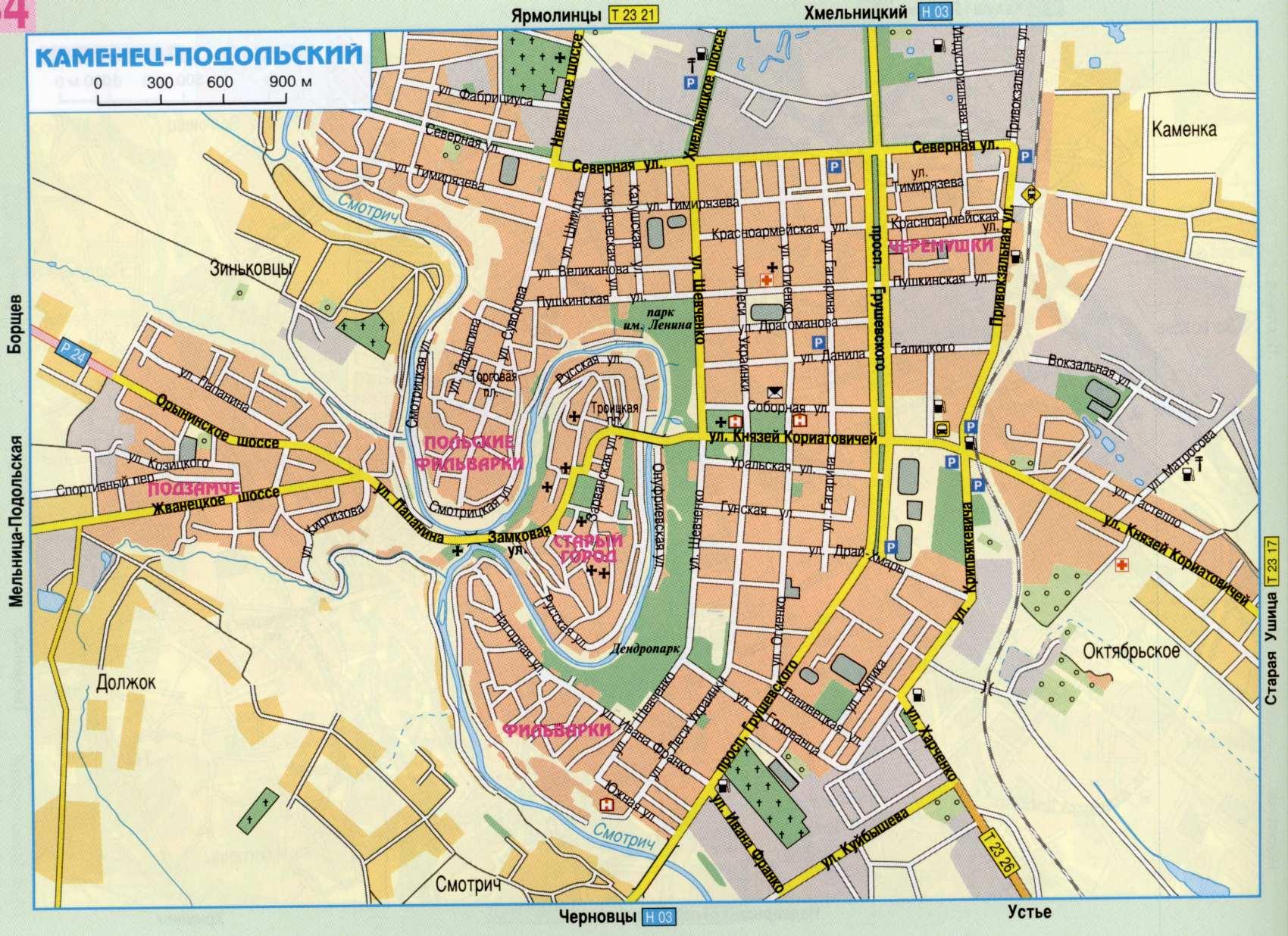 Карта города Каменец-Подольский