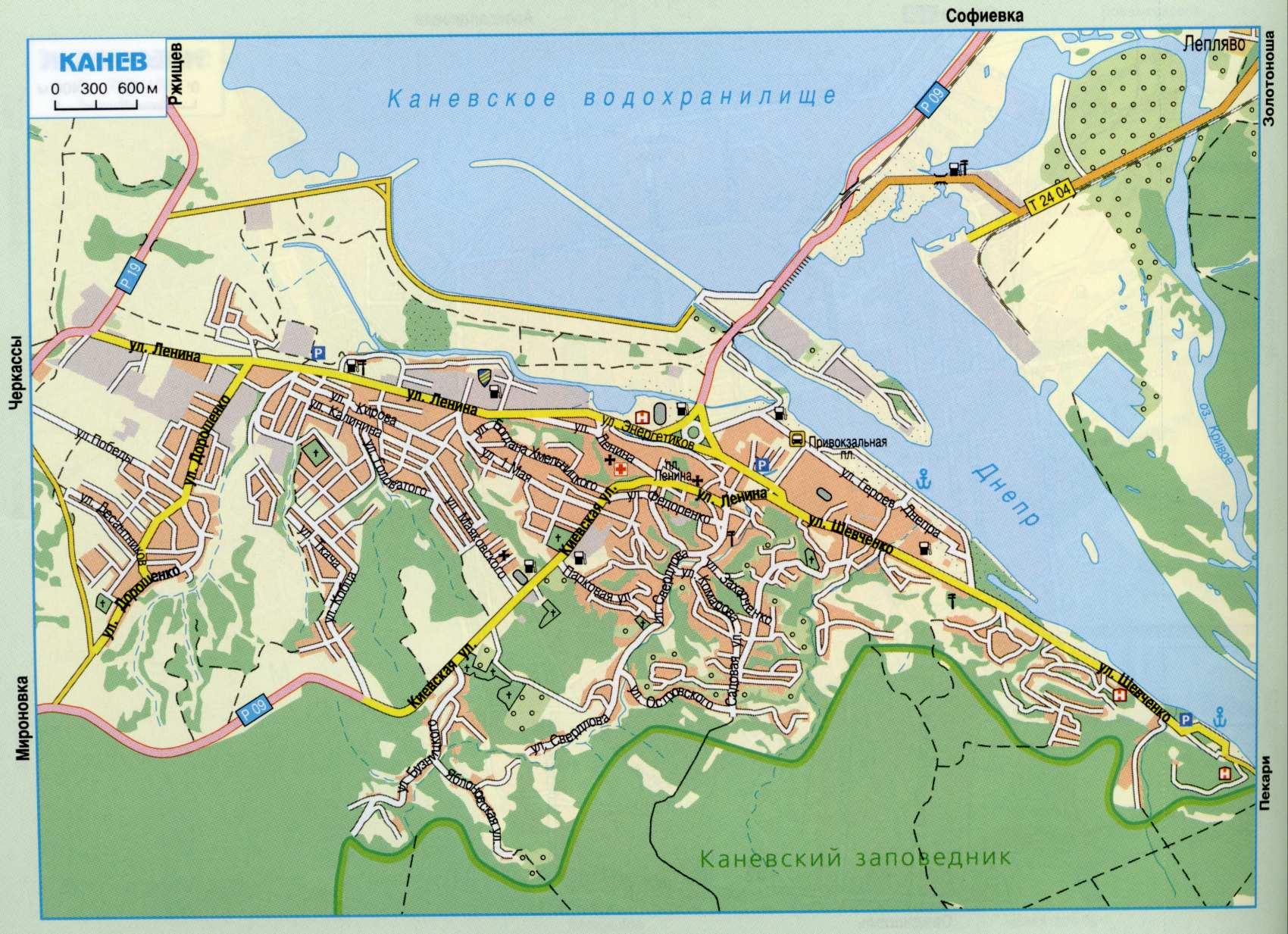 Карта города Канев