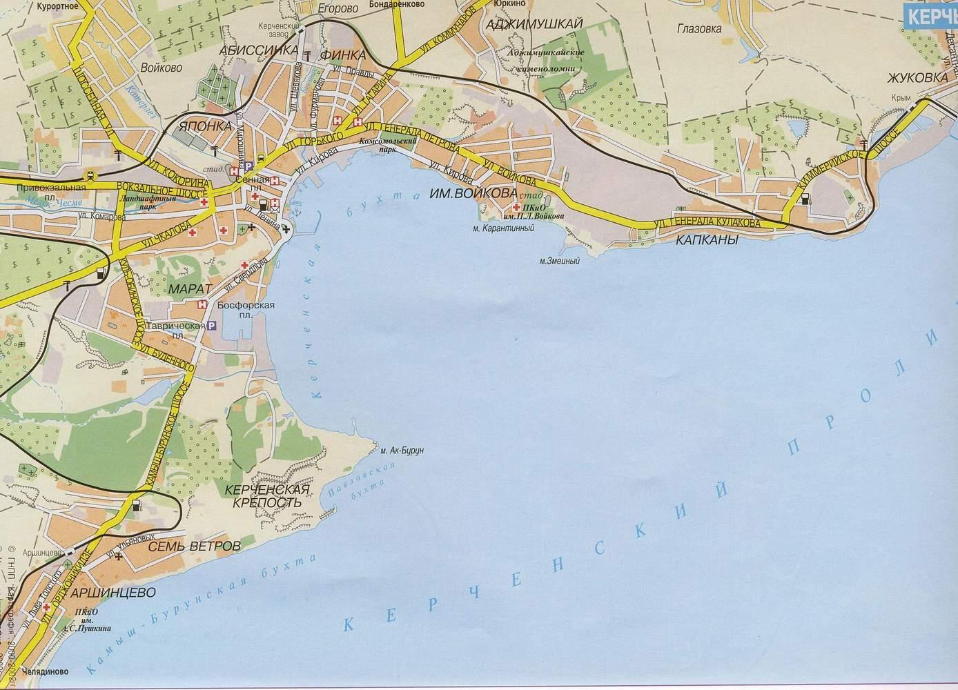 Карта города Керчь