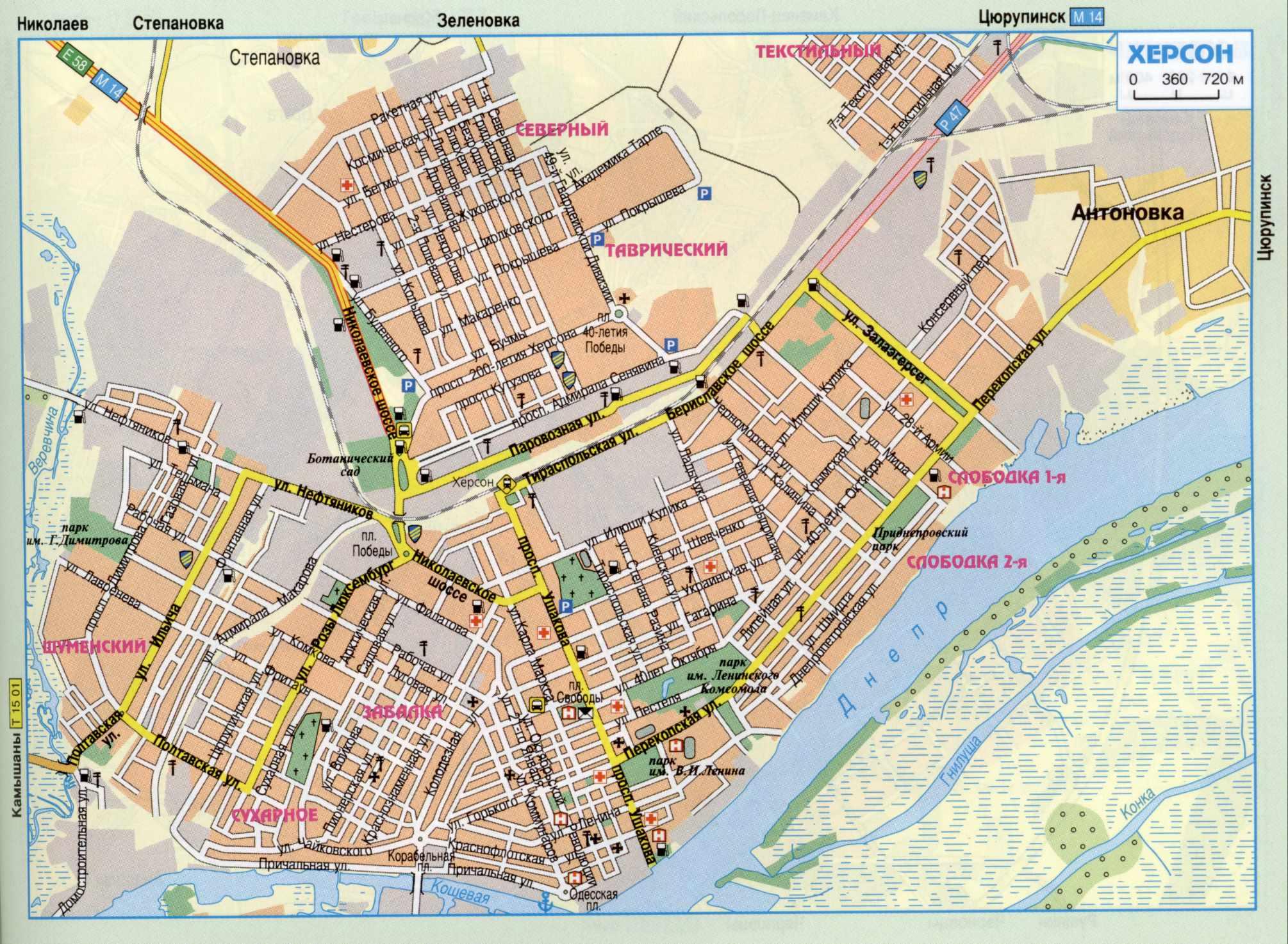 Карта города Херсон