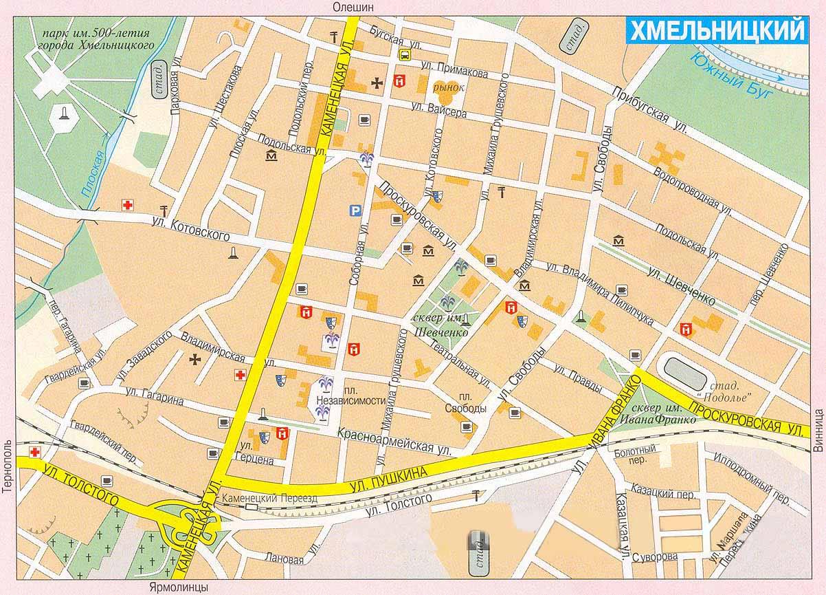Карта города Хмельницкий