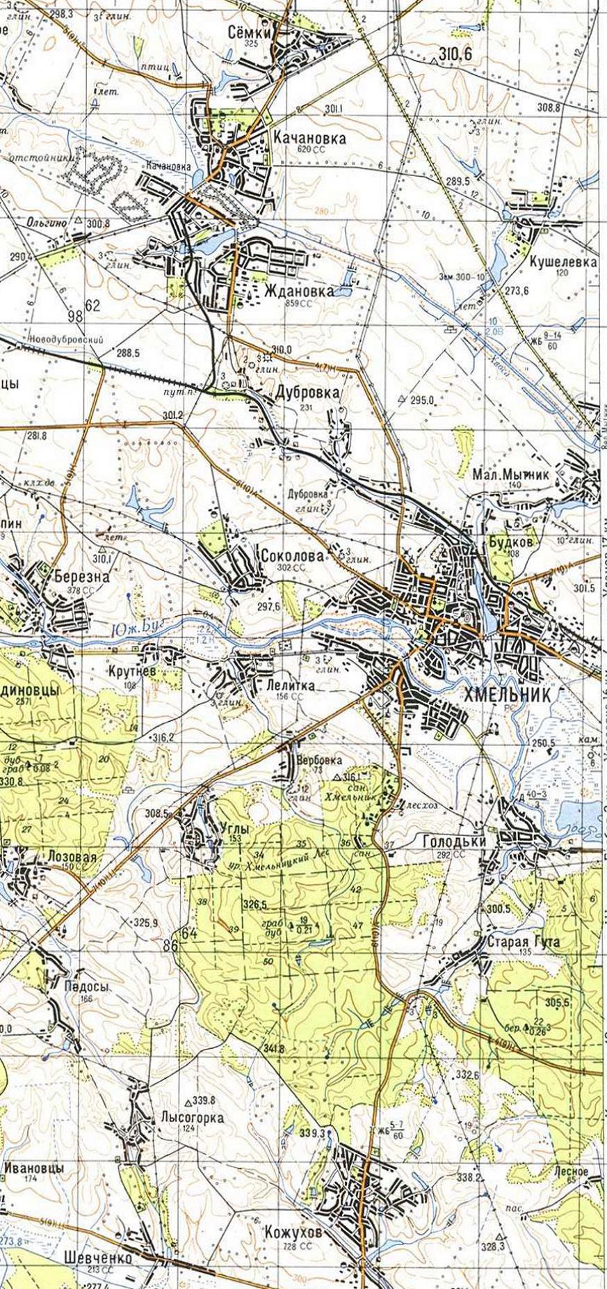 Карта города Хмельник