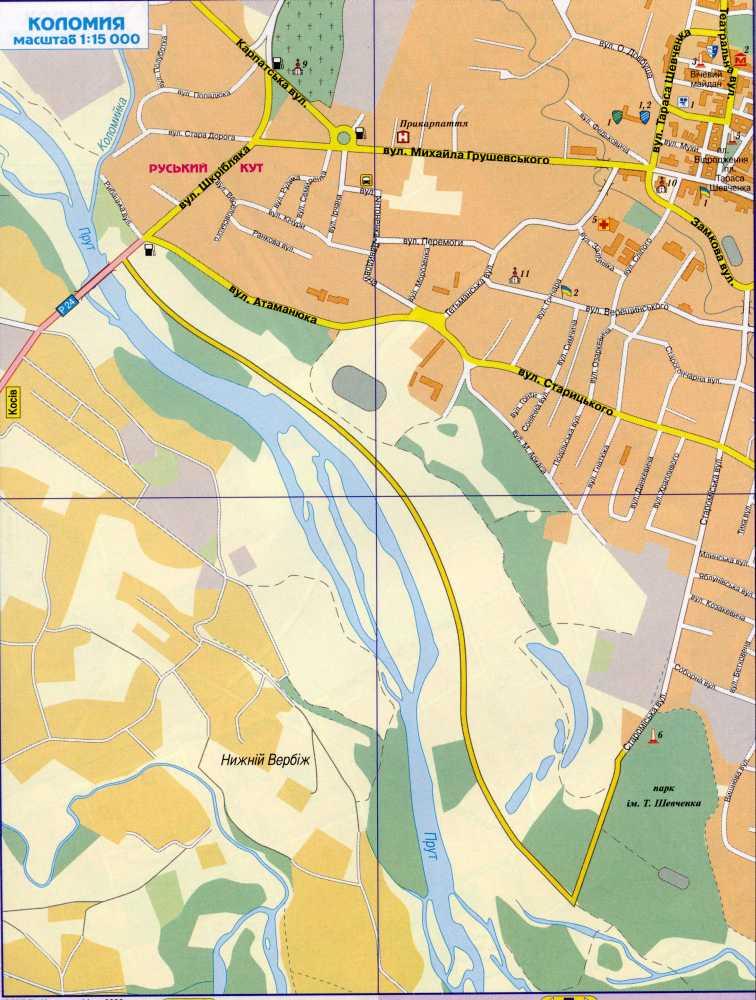 Карта города Коломыя