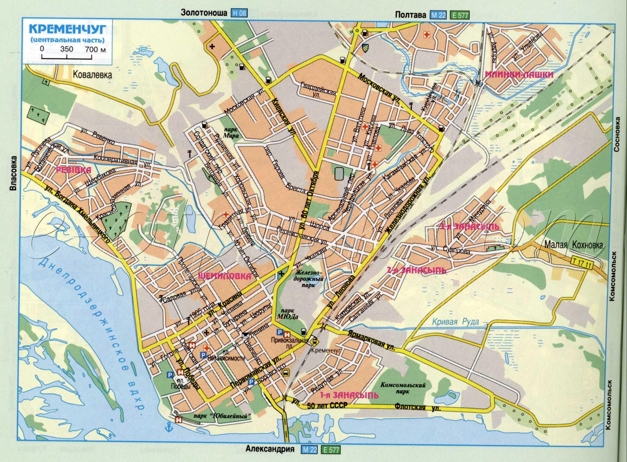 Карта города Кременчуг