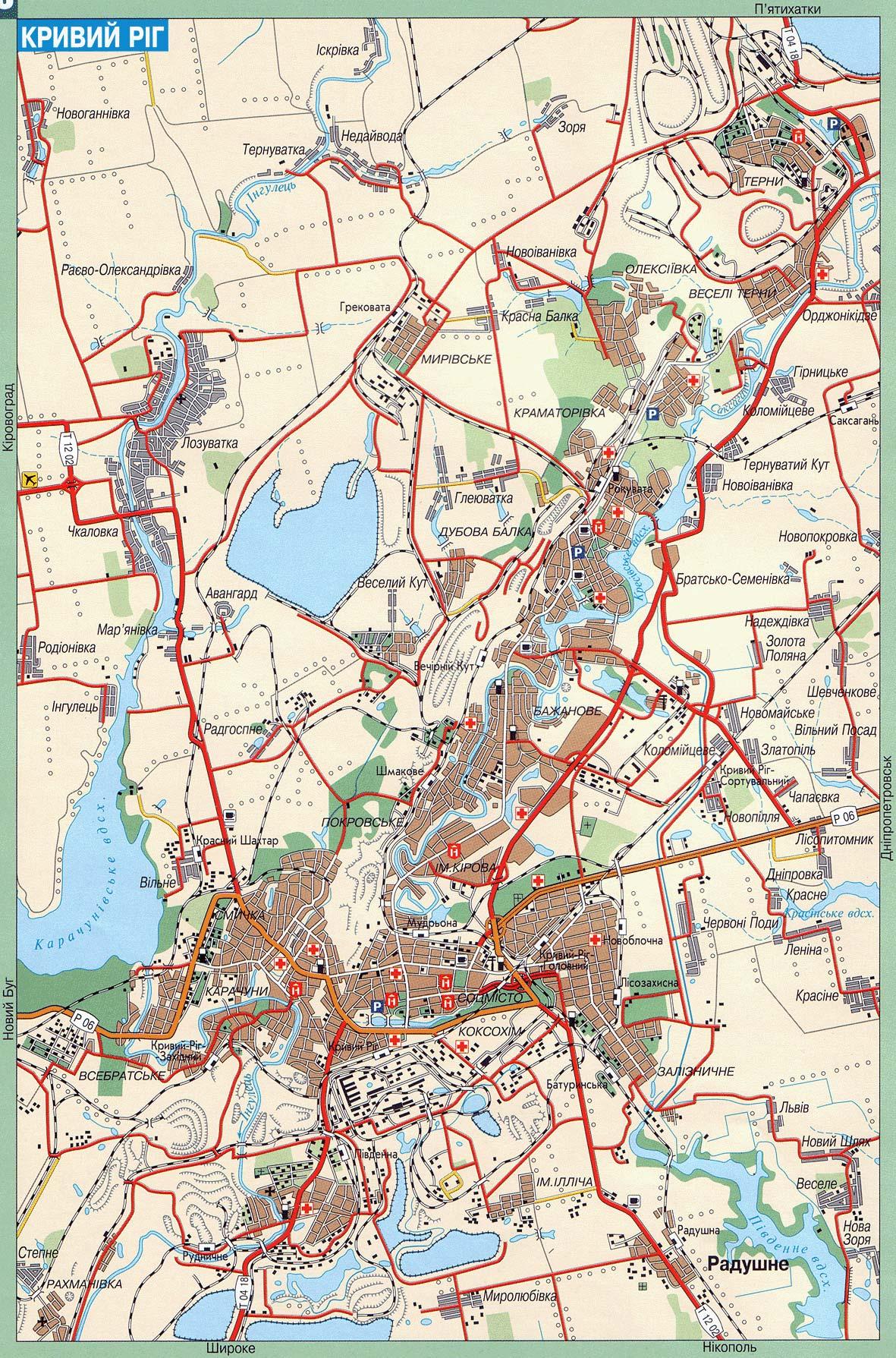 Карта города Кривой Рог