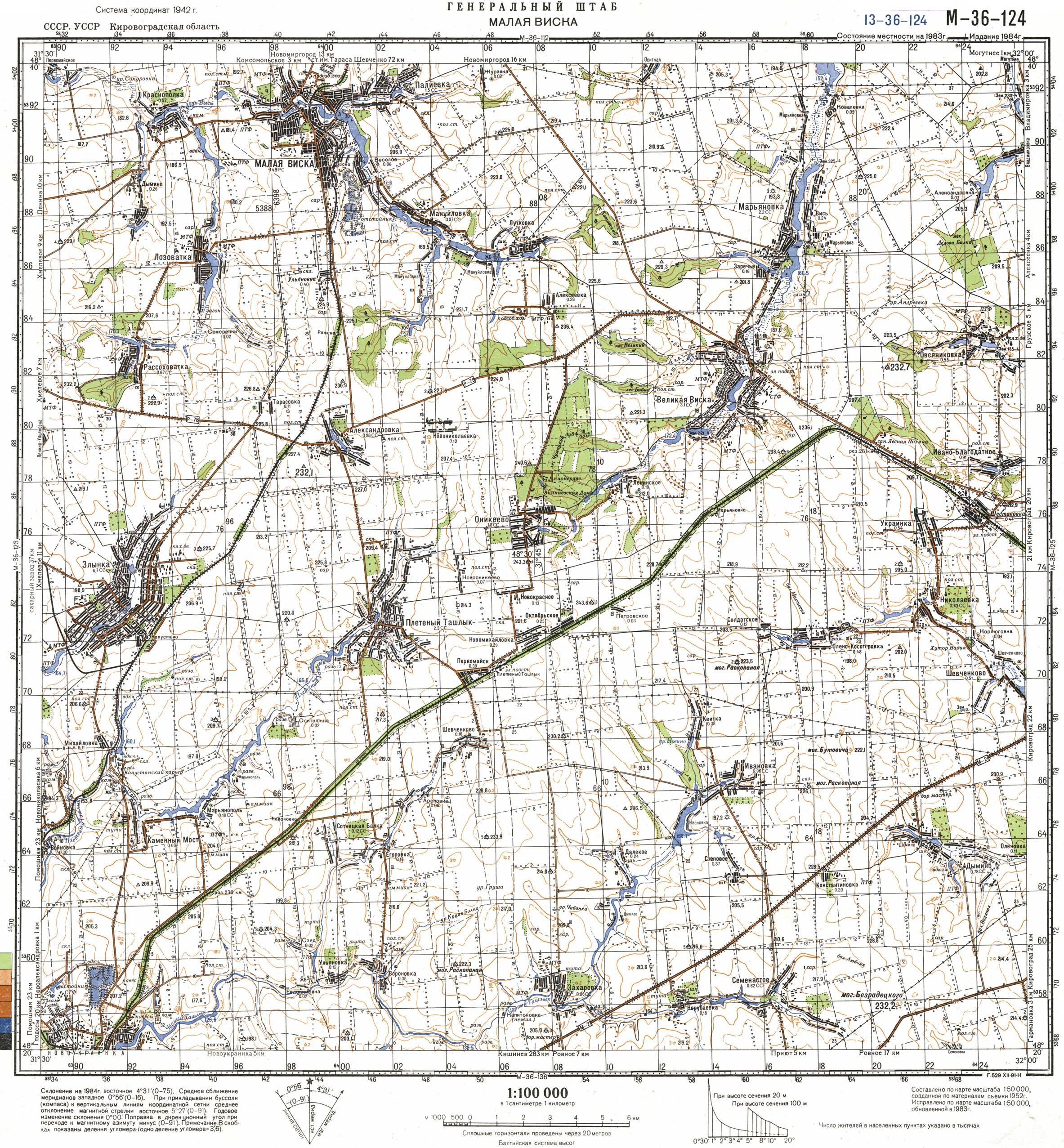 Карта города Малая Виска