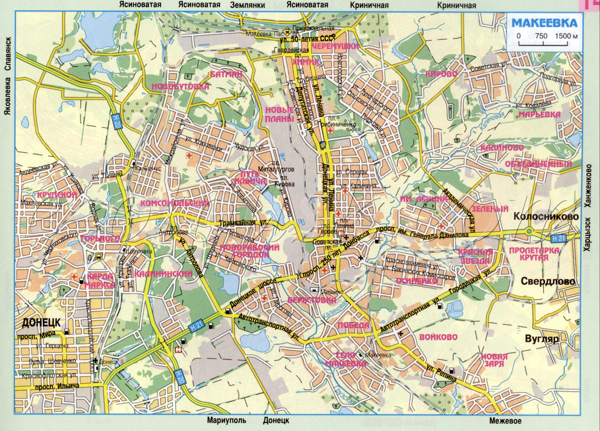 Карта города Макеевка
