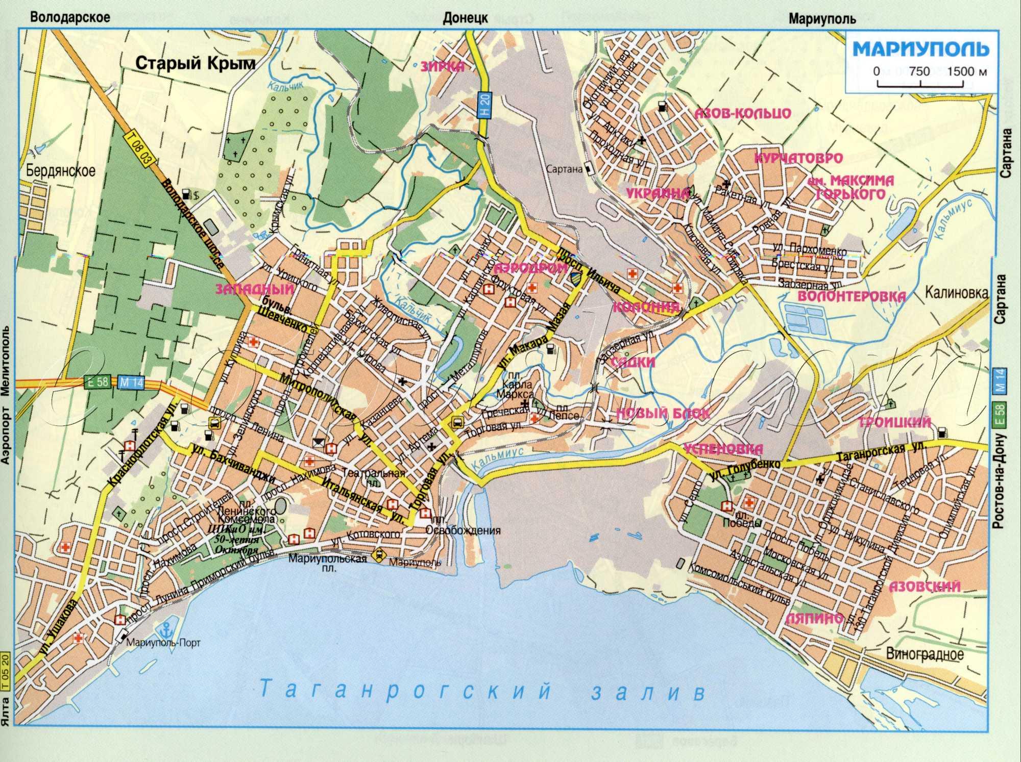 Карта города Мариуполь