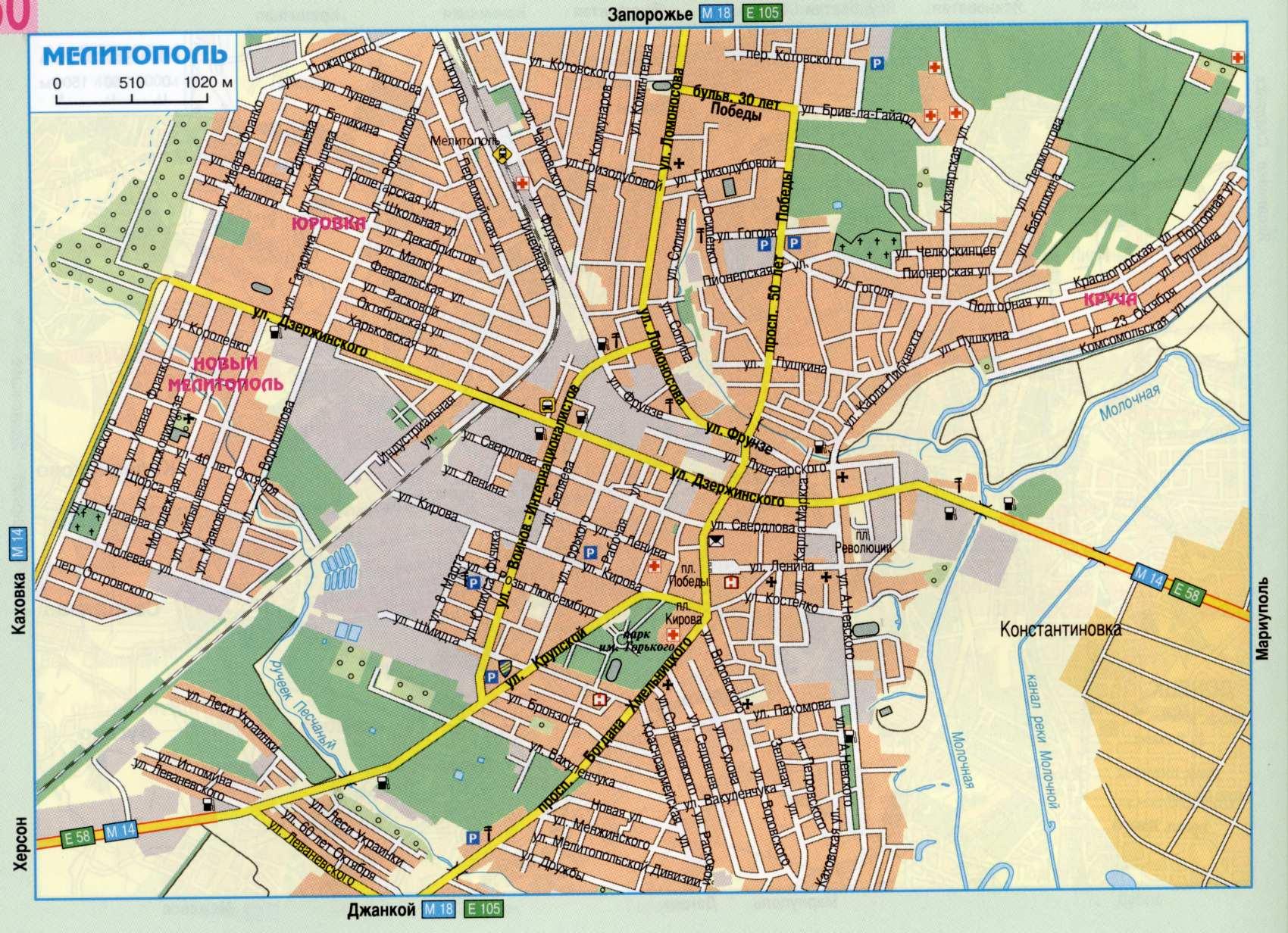 Карта города Мелитополь
