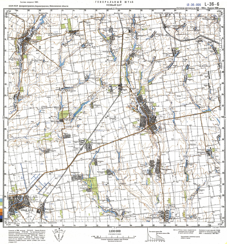 Карта города Новый Буг