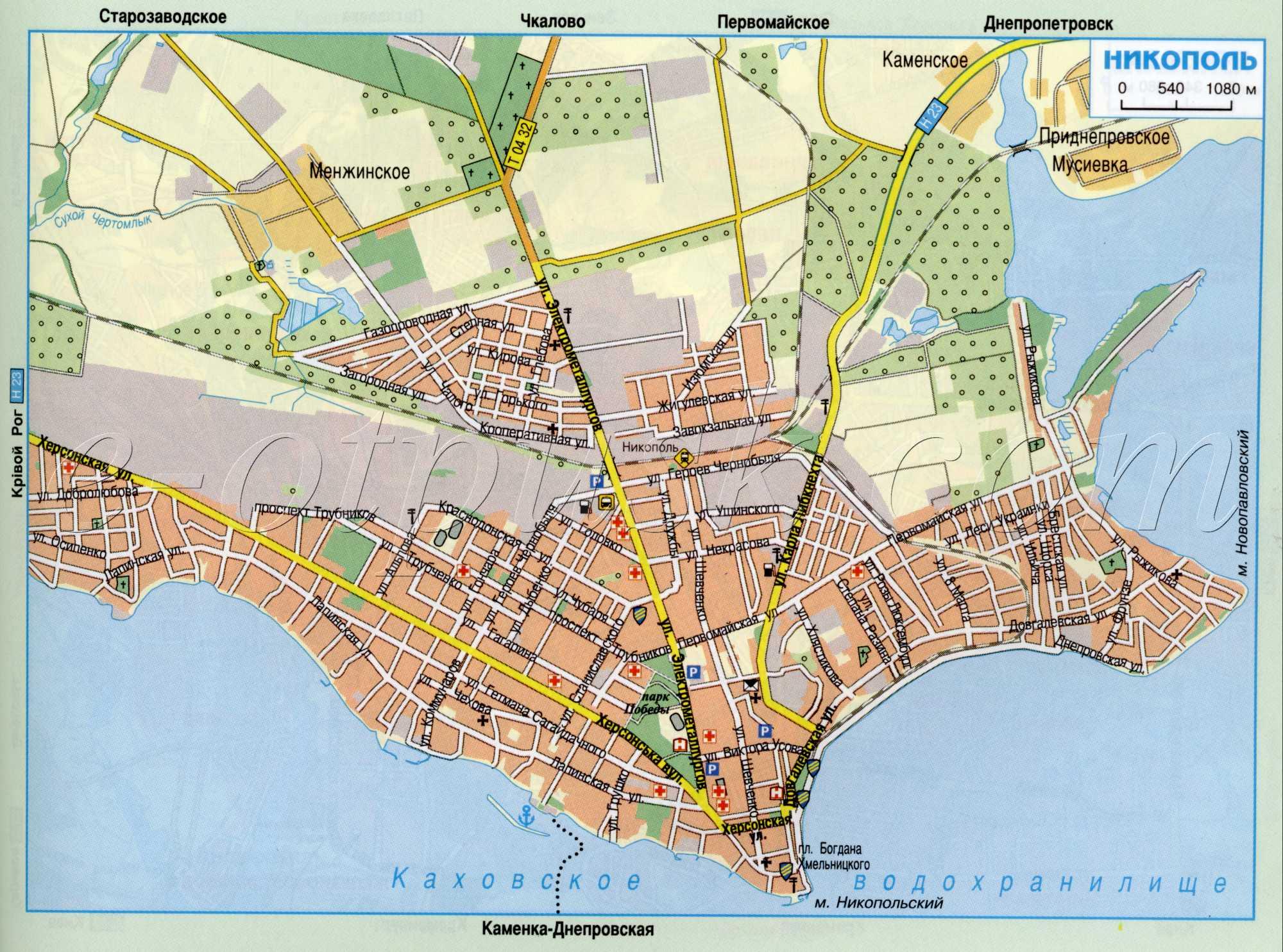 Карта города Никополь