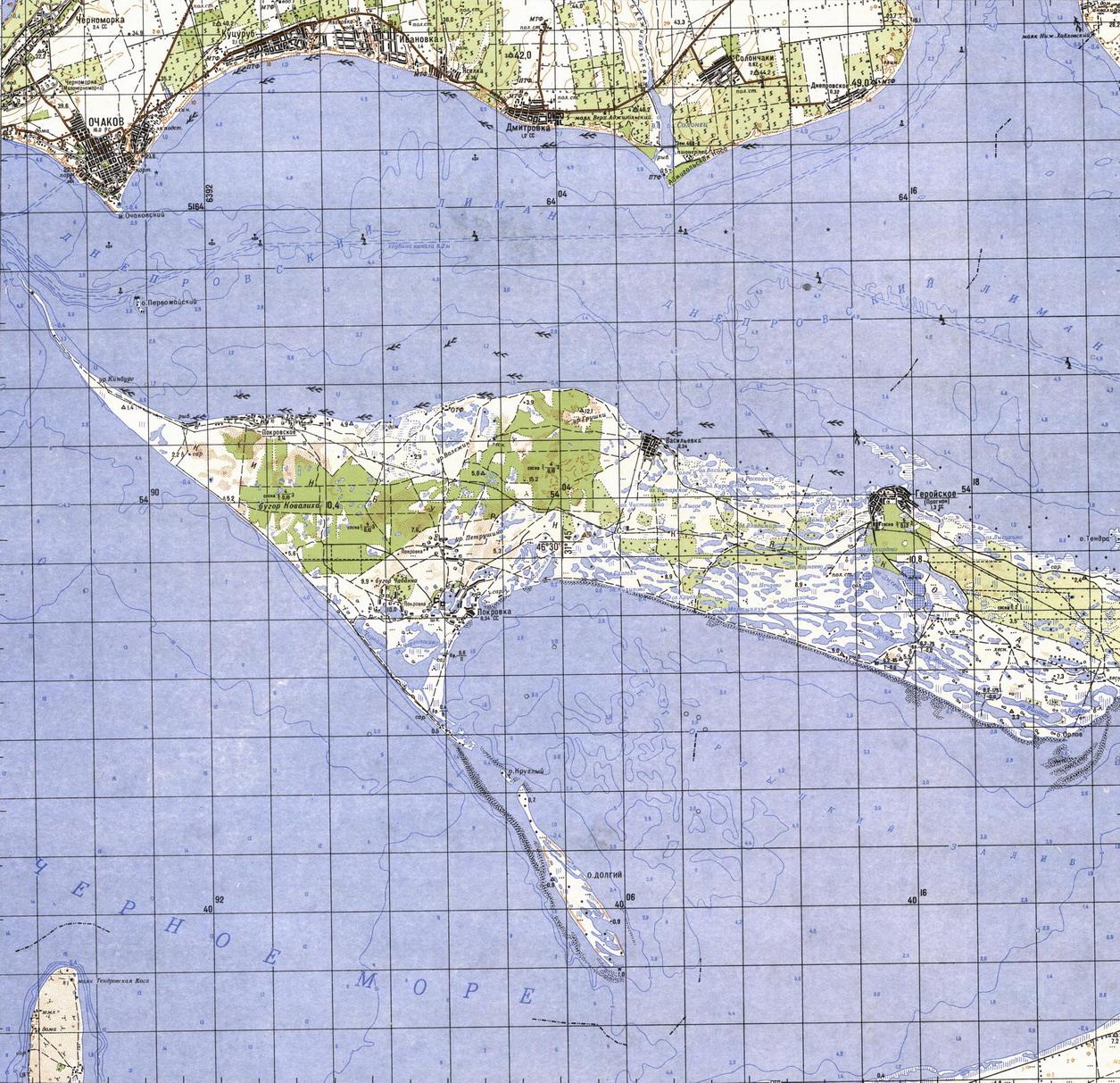 Карта города Очаков