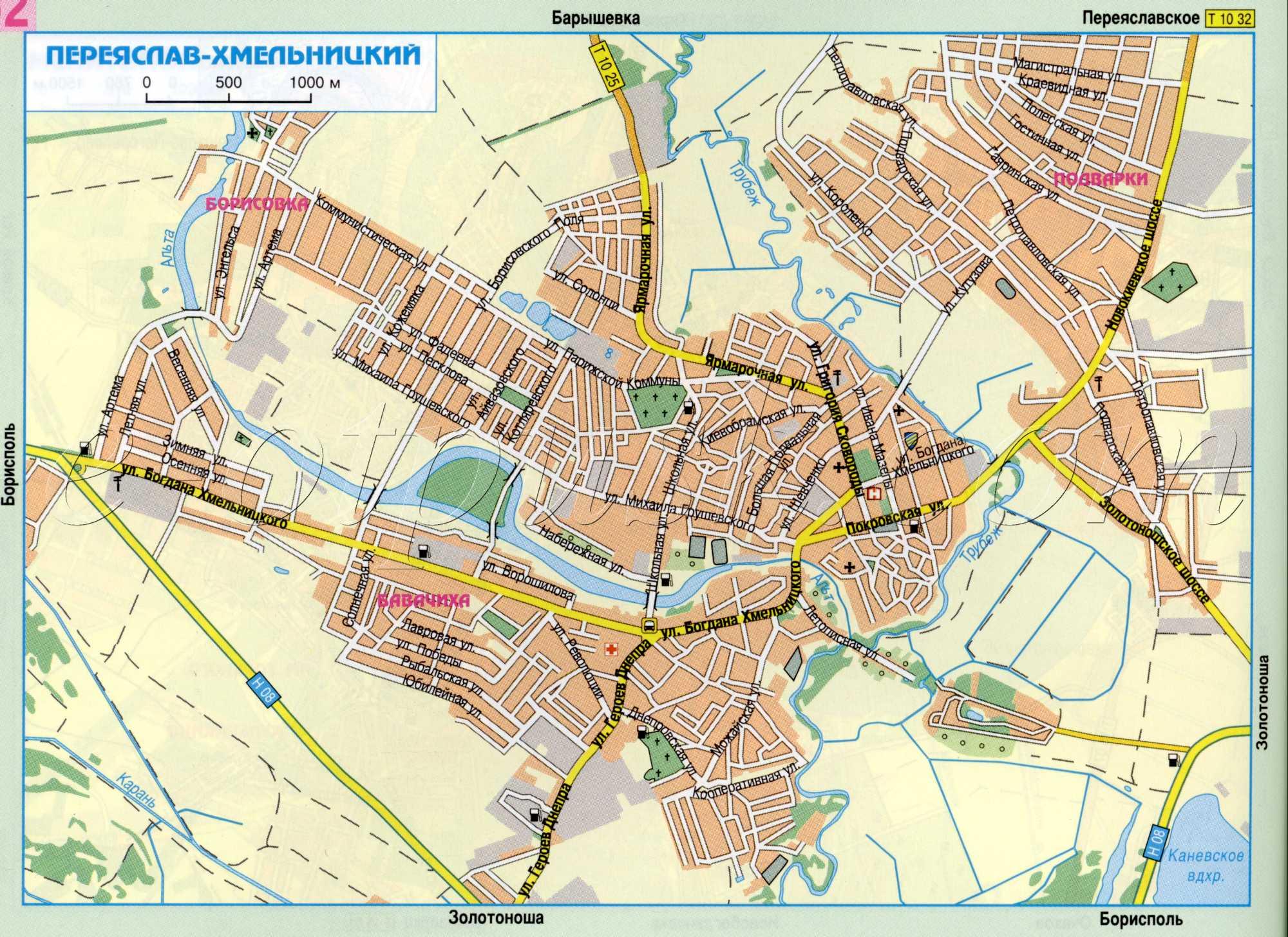 Карта города Переяслав-Хмельницкий