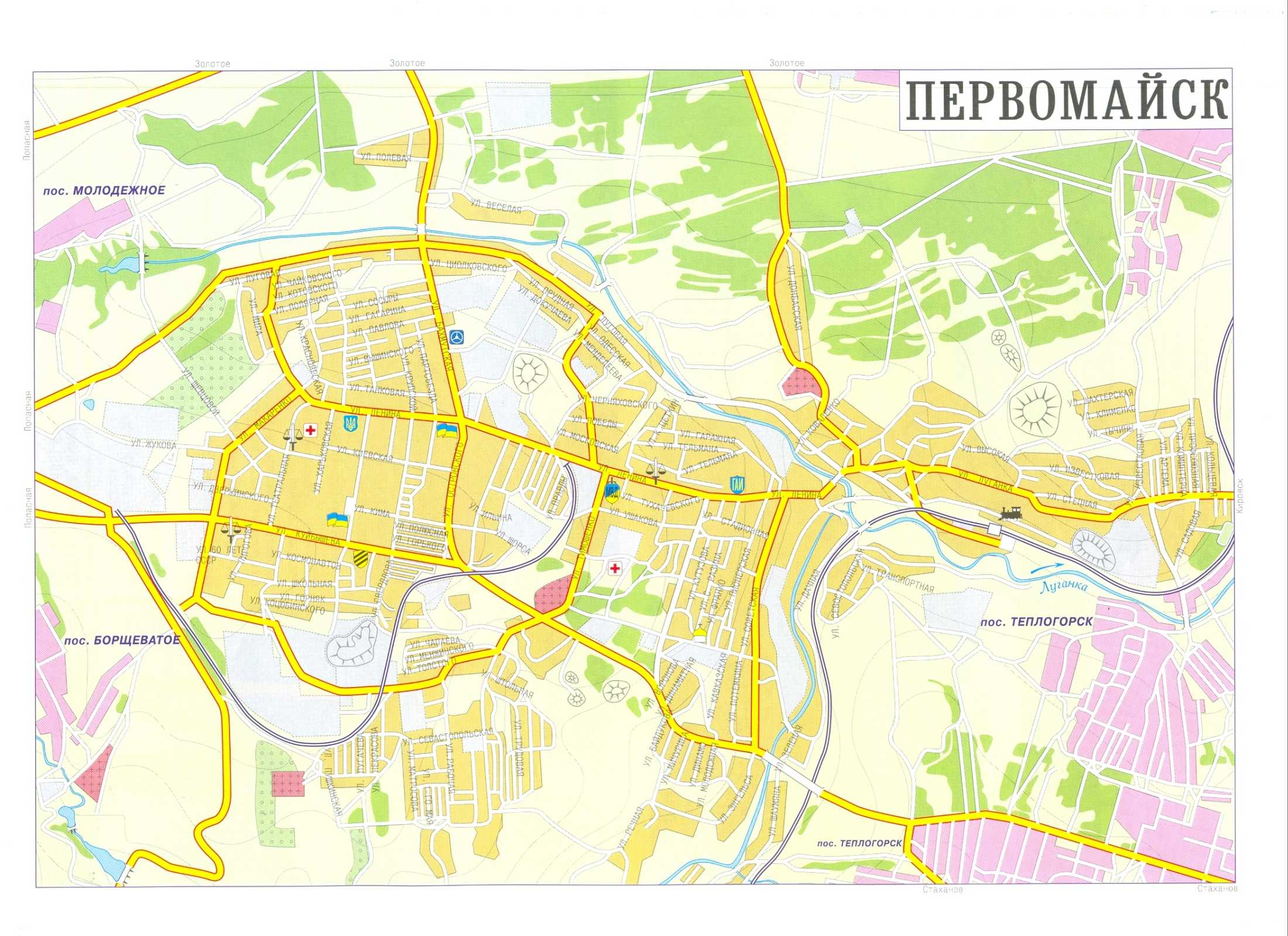Карта города Первомайск