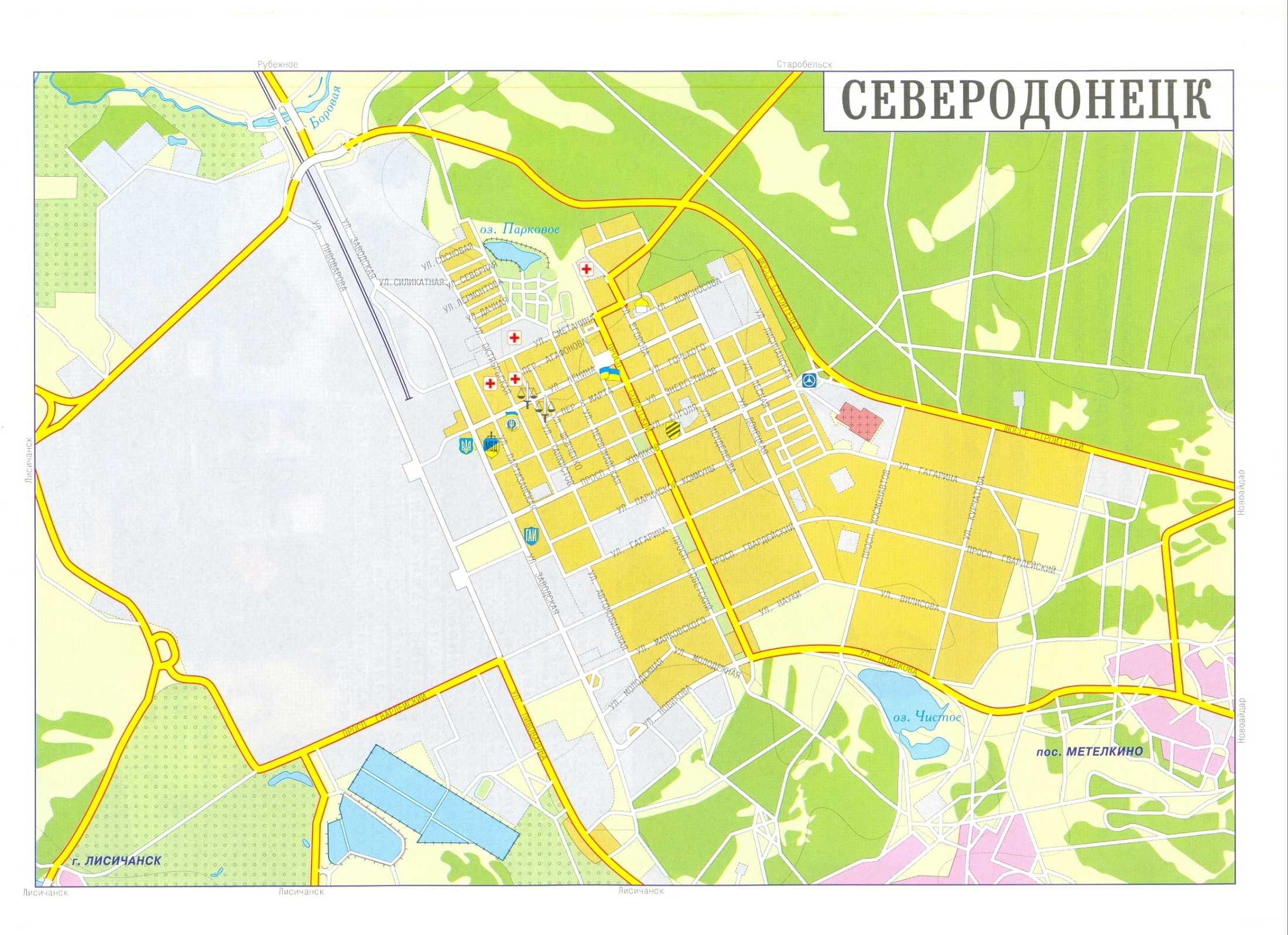 Карта города Северодонецк