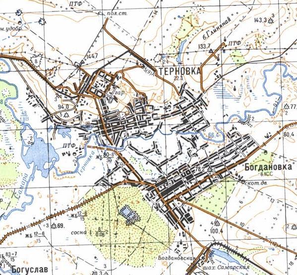 Карта города Терновка