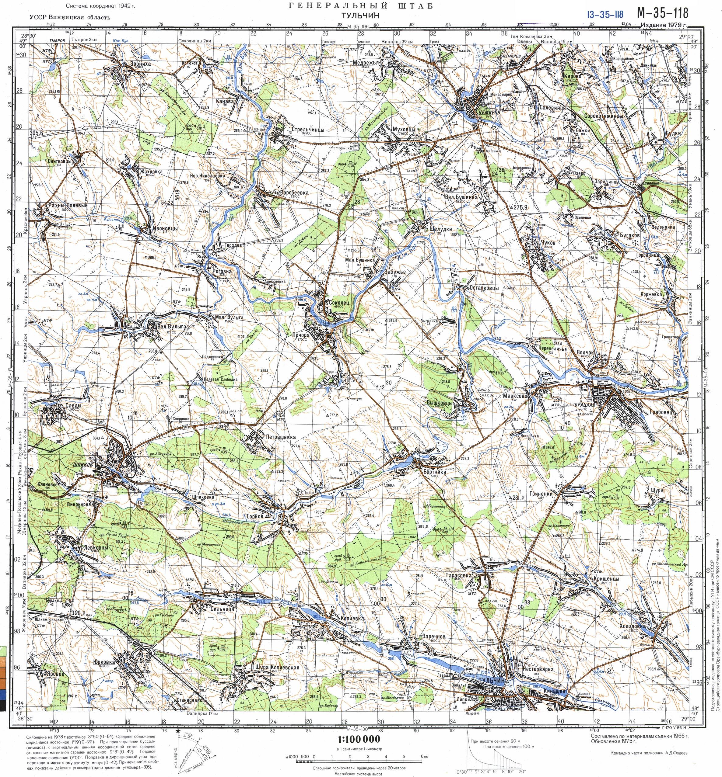 Карта города Тульчин