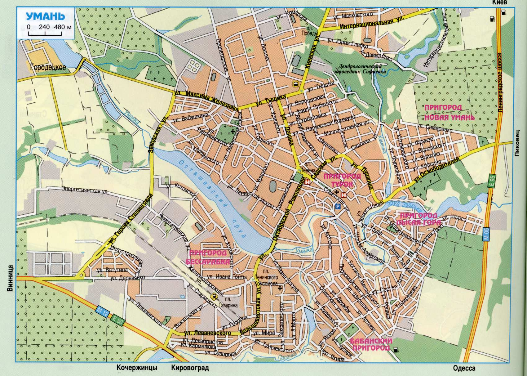 Карта города Умань