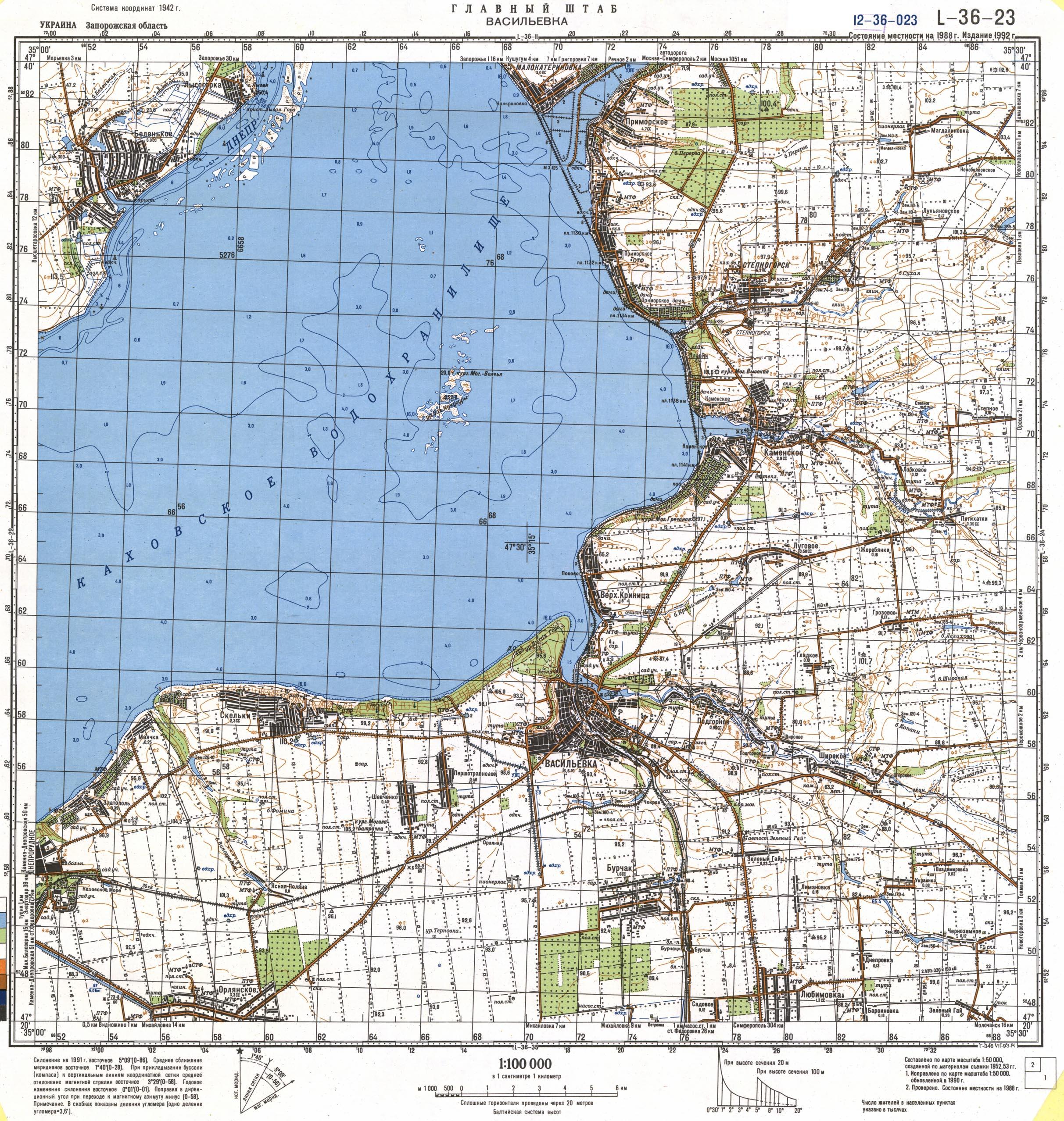 Карта города Васильевка
