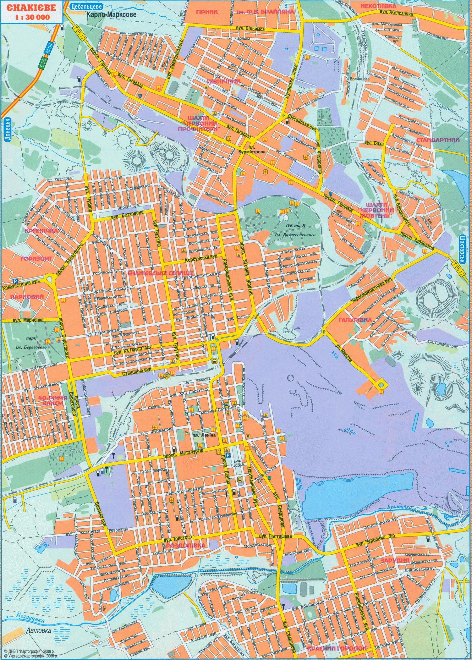 Карта города Енакиево