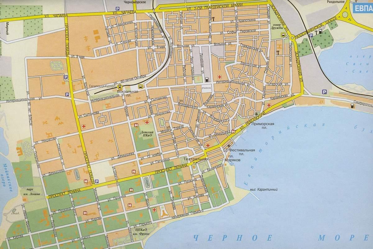 Карта города Евпатория