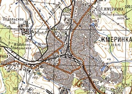 Карта города Жмеринки